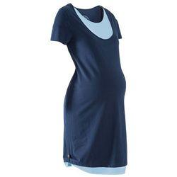 Sukienka shirtowa ciążowa i do karmienia piersią bonprix ciemnoniebiesko-jasnoniebieski