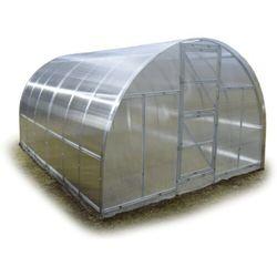 """Tunel szklarnia """"Omega"""" 3x10 z ocynkowanego profilu z poliwęglanem 6 mm"""