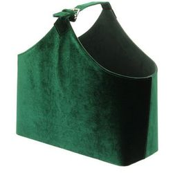 Dekoria Gazetnik Inez green 42x18x42cm, 42 × 18 × 42 cm