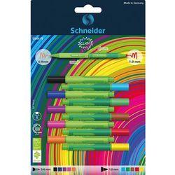 Cienkopis Flamaster SCHNEIDER Link-It 5szt. + 5szt. mix kolorów na blistrze