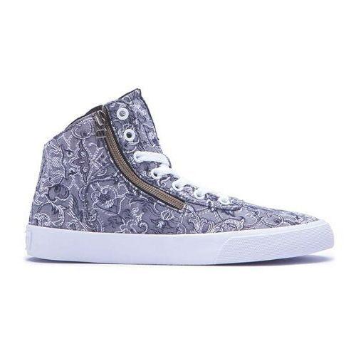 Damskie obuwie sportowe, buty SUPRA - Womens Cuttler Grey/Pattern-White (GPA)
