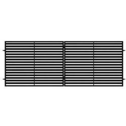 Brama dwuskrzydłowa NEROSYSTEM 400 x 150 cm METALKAS