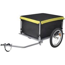 Przyczepa rowerowa, transportowa 65 kg, czarno-żółta