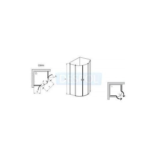 Kabiny prysznicowe, Ravak Chrome 90 x 90 (3Q170100Z1)