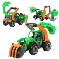 Traktory dla dzieci, GripTrucks traktor ładowarka z łyżką