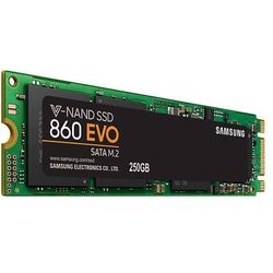 Samsung SSD 500GB 860 EVO M.2 2280 (read/write; 550/520MB/s)
