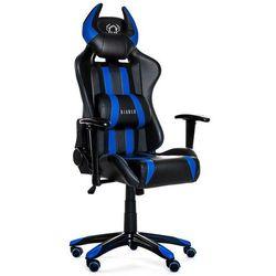 Fotel DIABLO CHAIRS X-One Horn Czarno-niebieski + 15% rabatu na tańszy produkt!
