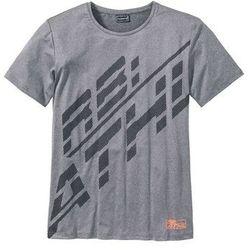 T-shirt funkcyjny Slim Fit bonprix szary melanż z nadrukiem
