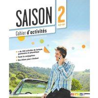 Książki do nauki języka, Saison 2 ćwiczenia + CD Audio poziom A2-B1 (opr. miękka)