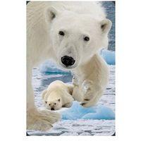 Pozostałe artykuły papiernicze, Mini kartka 3D Niedźwiedź Polarny z młodym