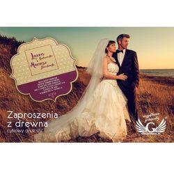 Zaproszenia ślubne z drewna - cyfrowy druk UV - ZAP002