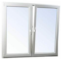 Okno PCV rozwierne + rozwierno-uchylne trzyszybowe 1165 x 1135 mm symetryczne białe