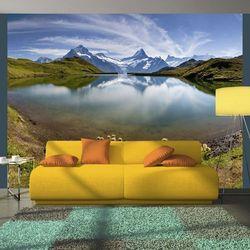 Fototapeta - Góry odbijające się w tafli jeziora, Szwajcaria