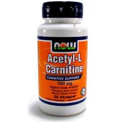 NOW Foods Acetyl L- Carnitine 500 mg - 100 kaps.