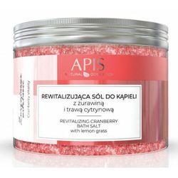 Apis ŻURAWINOWA WITALNOŚĆ Rewitalizująca sól do kąpieli z żurawiną i trawą cytrynową (9393)