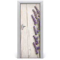 Nalepka Naklejka fototapeta na drzwi Lawenda drewno