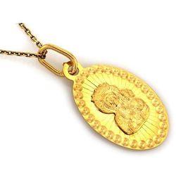 Zawieszka złota medalik - 0,63 g
