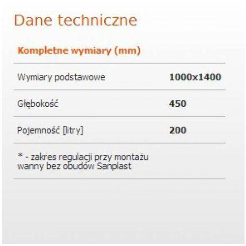 Wanny, Sanplast Ergo 100 x 140 (610-040-0850-01-000)
