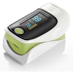Pulsoksymetr na palec Yonker 80 z funkcją dźwięku i alarmu - zielony