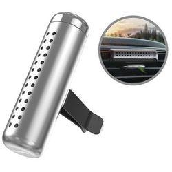 Baseus Horizontal Chubby / Odświeżacz powietrza zapach do samochodu na kratkę nawiewu / srebrny - Srebrny