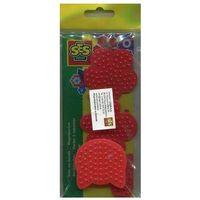 Kreatywne dla dzieci, Szablon do układania koralików mini 4 sztuki