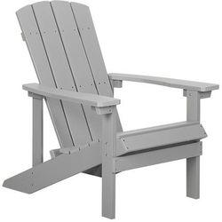 Krzesło ogrodowe jasnoszare ADIRONDACK