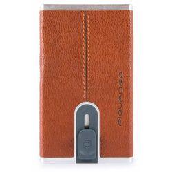 Piquadro Black Square Etui na karty RFID skórzana 6 cm orange ZAPISZ SIĘ DO NASZEGO NEWSLETTERA, A OTRZYMASZ VOUCHER Z 15% ZNIŻKĄ