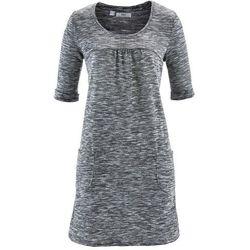 Sukienka melanżowa, rękawy 1/2 bonprix czarno-biały melanż