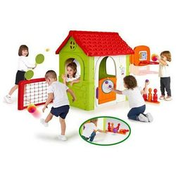 Feber domek ogrodowy plac zabaw 6 w 1