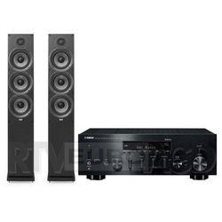 Yamaha MusicCast R-N803D, Elac Debut 2.0 F6.2 (czarny)