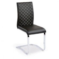 Krzesło konferencyjne, kuchenne skórzane RITZ, opakowanie 4 szt., czarne
