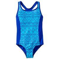 Stroje kąpielowe dziecięce, Kostium kąpielowy dziewczęcy bonprix turkusowo-niebieski