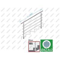 Przęsła i elementy ogrodzenia, Balustrada nierdzewna AISI304, D42,4/4xd12/H900/L1