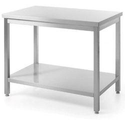 Stół roboczy centralny z półką | skręcany | szer: 1000-1800mm | gł: 600mm