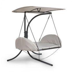 Blumfeldt Fountain Valley, Wiszące krzesło, Poduszka siedziska, Zadaszenie przeciwsłoneczne, 180g Poliester, Beżowy