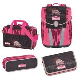 SCOUT Sunny Plecak i akcesoria szkolne, 4-częściowy - Pink Dino
