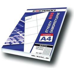 Etykiety 105 X 48,0 mm, 12 szt/A4 EMERSON uniwersalne (G) - X06639