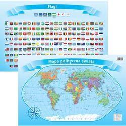 Podkładka na biurko - Mapa polity. z flagami Świat