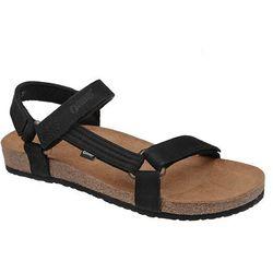 Sandały OTMĘT 405CP Czarne Jezuski BioForm Fussbett - Czarny ||Beżowy