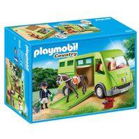 Klocki dla dzieci, Playmobil COUNTRY Wóz do przewozu koni 6928