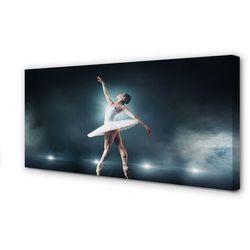 Obrazy na płótnie Biała sukienka balet kobieta
