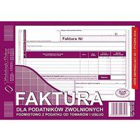 Druki akcydensowe, Faktura dla podatników zwolnionych z VAT A5 typ 203-3 Michalczyk i Prokop