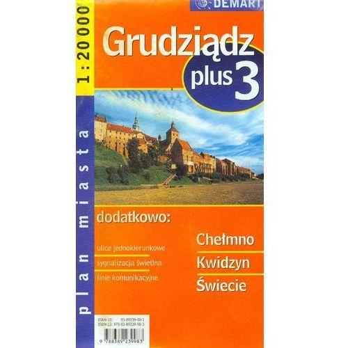 Mapy i atlasy turystyczne, GRUDZIĄDZ PLUS 3. PLAN MIASTA (opr. miękka)