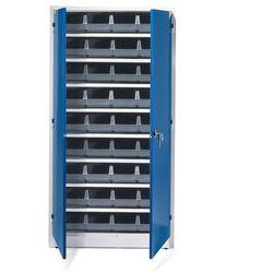 Szafa warsztatowa z pojemnikami, 36 szarych pojemników, 1900x1000x400 mm