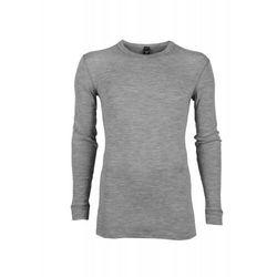 Koszulka męska z wełny merynosów (100%) - długie rękawy - szara - DILLING