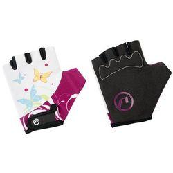 Rękawiczki dziecięce Accent Daisy biało-fioletowe XS