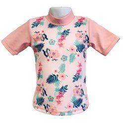 Koszulka kąpielowa bluzka dzieci 120cm filtrem UV50+ - Rashy Pink \ 120cm