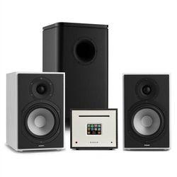 Numan Unison Reference 802 Edition, system stereo, wzmacniacz, UniSub, głośniki, biały/czarny