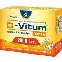 Witaminy i minerały, D-Vitum forte 2000 j.m. 36 kaps.
