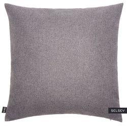 SELSEY Poszewka na poduszkę Rino 45x45 cm szara